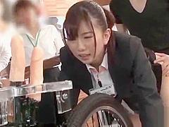 SOD FEMALE EMPLOYEE 2 HOLES ALTERNATING INSERT ACME BICYCLE IS OK!YUKA HONBASHI, A FEMALE EMPLOYEE OF THE ORGANIZATION DEPARTMENT, WHO BECAME A LABORATORY BASE FOR NEW DEVELOPMENT HIMSELF