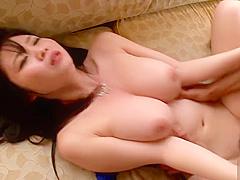 Amazing buxomy oriental Aika Yumeno got cumshot in her throat