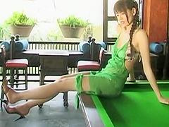 Yuriko Shiratori - green dress