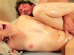 Japanesse in nuru massage gives pleasure to horny client 23