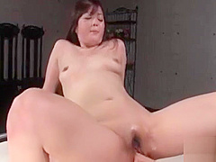 Mizuki Ogawa riding a pussy starving dick well
