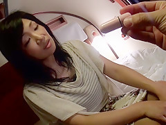 Horny Japanese girl Kyoko Maya in Crazy car, couple JAV scene