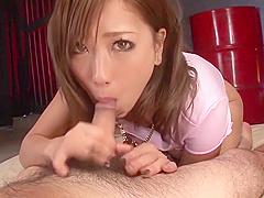 JAV Uncensored Aika Big Tits Gives Blowjob