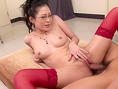 This hot Asian gets banged by two guys