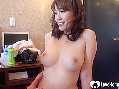 Busty Asian woman, Emiri cant wait to get naked and spread up for an intense orgasm