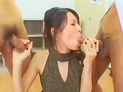 Hottest Japanese whore Rino Asuka in Exotic Gangbang, Facial JAV clip