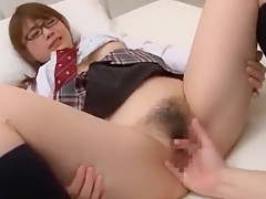 Incredible Japanese chick Mayuka Akimoto in Amazing College/Gakuseifuku JAV scene