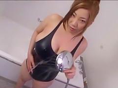 Fabulous Japanese girl Seri Ishiguro in Incredible POV, Showers JAV scene
