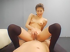 Crazy Japanese whore in Fabulous Stockings/Pansuto, Small Tits JAV scene