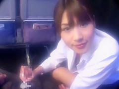 Hottest Japanese model Ai Kurosawa in Exotic Handjobs JAV clip