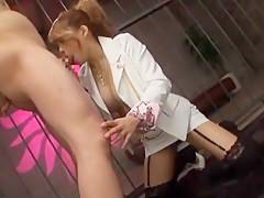 Horny Japanese model Mye Tsukishima in Amazing Threesomes, Cumshots JAV scene