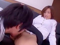 Best Japanese girl Akari Asahina in Amazing Secretary JAV scene