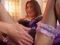 Fabulous Japanese chick Mai Izuki in Horny Fingering, Lingerie JAV clip