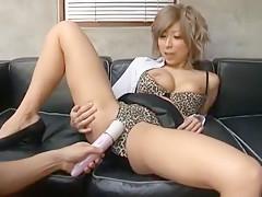 Fabulous Japanese model Haru Sakuraba in Hottest Cunnilingus, Dildos/Toys JAV clip