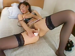 Incredible Japanese slut in Best Solo Girl, Stockings/Pansuto JAV clip