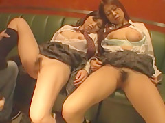 Incredible Japanese whore Mikuru Shiina, Ruka Ishikawa in Fabulous Fingering, Doggy Style JAV movie