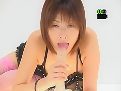 Crazy Japanese model Nana Natsume in Horny Stockings/Pansuto, Blowjob/Fera JAV scene