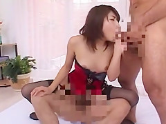 Crazy Japanese model Karen Kisaragi in Exotic Lingerie, Threesomes JAV movie