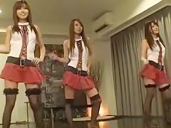 Exotic Japanese chick Hana Yoshida, Rui Saotome, Eri Ouka in Best Fingering, Stockings/Pansuto JAV video