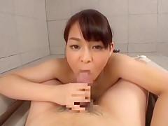 Fabulous Japanese model Yuna Nakazato in Exotic POV, Showers JAV scene