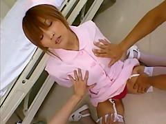 Fabulous Japanese whore Azusa Isshiki in Crazy Cunnilingus, Nurse/Naasu JAV movie