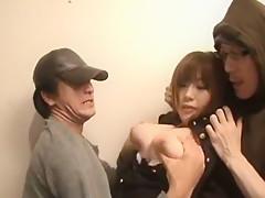 Exotic Japanese chick Saki Tsuji, Rio Hamasaki in Hottest Big Tits JAV movie