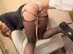 Incredible Japanese slut Kaori Nishio in Amazing Stockings/Pansuto, BDSM JAV scene