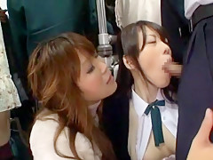 Fabulous Japanese chick Rica Aiba, Emiri Mizusawa, Miho Tachibana in Horny Public JAV scene