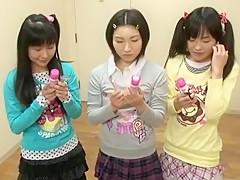 Horny Japanese model Rui Hazuki, Kotomi Tsukino, Anri Kawai in Amazing Skinny, Small Tits JAV movie