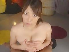 Horny Japanese chick Hina Akiyoshi in Crazy Big Tits, Handjobs JAV clip