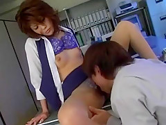Horny Japanese model Anna Kaneshiro in Crazy Foot Fetish, Secretary JAV video