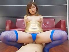 Incredible Japanese girl Yu Anzu in Amazing Face Sitting, Stockings/Pansuto JAV scene