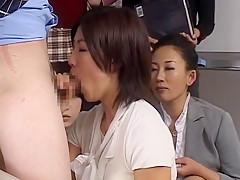 Hottest Japanese slut Runa Mochida, Mirai Kamata, Yuu Uehara in Crazy MILFs, Blowjob/Fera JAV video