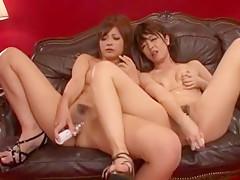 Hottest Japanese girl Haruki Sato, Ami Morikawa in Best Lesbian/Rezubian, Fingering JAV clip