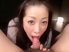 Hottest Japanese whore Minako Komukai in Crazy Close-up, Blowjob/Fera JAV clip
