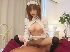 Incredible Japanese chick Rio Hamasaki in Amazing Cunnilingus, Maid/Meido JAV video