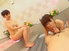 Incredible Japanese whore Kaho Kasumi, Sho Nishino, Reira Kato in Horny Showers, Cunnilingus JAV clip