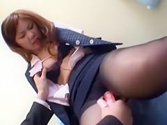 Crazy Japanese girl Risa Tsukino in Incredible Office, Stockings/Pansuto JAV movie