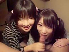 Horny Japanese girl in Exotic Threesomes, Girlfriend JAV clip