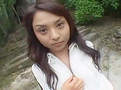 Amazing Japanese girl in Crazy Outdoor, Solo Girl JAV movie
