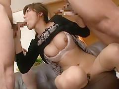 Incredible Japanese whore Yuna Shiina in Horny Threesomes JAV clip
