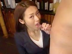 Best Japanese whore Ann Yabuki, Chikako Hirasawa in Fabulous Bar JAV scene