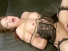 Horny Japanese model in Hottest /Futanari, Stockings JAV video