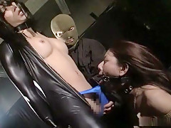 Horny Japanese whore in Incredible /Futanari, BDSM JAV movie