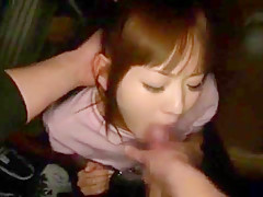 Horny Japanese whore in Exotic Cunnilingus, Lingerie JAV clip