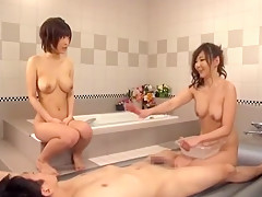 Horny Japanese whore Yuzu Ogura in Crazy Showers JAV clip