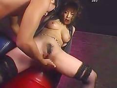 Fabulous Japanese whore in Amazing Stockings, Cumshots JAV clip