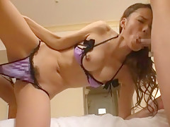 Horny Japanese chick Eri Ouka in Amazing Facial, Masturbation JAV video