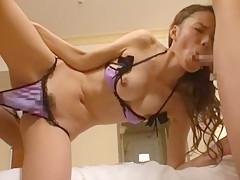 Horny Japanese chick Eri Ouka in Amazing Facial, Masturbation JAV video