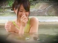 Horny Japanese slut Chiharu Nakai in Fabulous Voyeur, Showers JAV movie